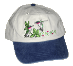 EM003C - Apparel, Embroidered Caps - Hummingbirds