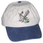 EM054C - Apparel, Embroidered Caps - Dragonfly Pond