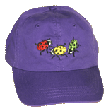 EM065C - Apparel, Embroidered Caps - Ladybug Fun