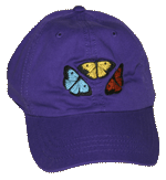 EM066C - Apparel, Embroidered Caps - Butterfly Fun