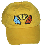 EM066Y - Apparel, Embroidered Caps - Butterfly Fun