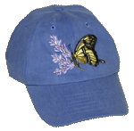 EM068C - Apparel, Embroidered Caps - Swallowtail Butterfly