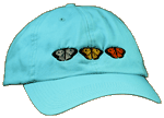 EM089C - Apparel, Embroidered Caps - Butterfly Trio
