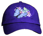 EM091C - Apparel, Embroidered Caps - Morpho Passion