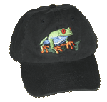 EM400C - Apparel, Embroidered Caps - Red Eyed Tree Frog