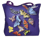 WC222B - Mugs & Totes, Totes - Butterfly Splash