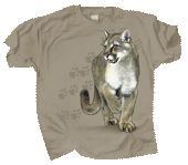 WC360T - T-Shirts, Adult - Cat Trax - Puma concolor couguar