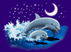 WC365K - T-Shirts, Youth - Dolphin Moon