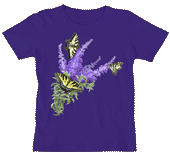 WC590N - T-Shirts, Ladies Scoop-Neck - Buterfly Bush