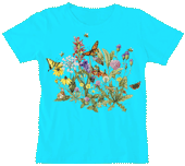 WC601N  - T-Shirts, Ladies Scoop-Neck - Roadside Flowers