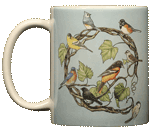 WC613M - Mugs & Totes, Mugs - Songbird Wreath