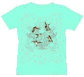 WC616N - T-Shirts, Ladies Scoop-Neck - Hummingbird Lace
