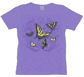 WC624N - T-Shirts, Ladies Scoop-Neck - Butterfly Lace