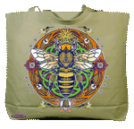 WC704B - Mugs & Totes, Totes - Honey Bee Hex