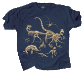WC722T - T-Shirts, Adult - Dinosaur Bones