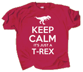 WC724K - T-Shirts, Youth - Keep Calm T-Rex