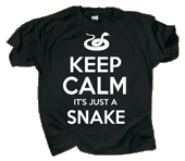 WC737T - T-Shirts, Adult - Keep Calm Snake