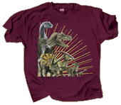 WC764T - T-Shirts, Adult - Mesozoic Dinosaurs