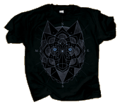 WC769T - T-Shirts, Adult - Cosmic GLo Wolf