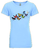 WC784K - T-Shirts, Youth - Butterfly Fancy