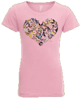 WC786K - T-Shirts, Youth - Butterfly Heart