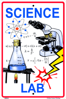 WS034 - Metal Signs, Warning Signs - Science Lab