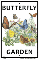 WS040 - Metal Signs, Warning Signs - Butterfly Garden