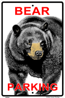 WS046 - Metal Signs, Warning Signs - Bear Parking Sign