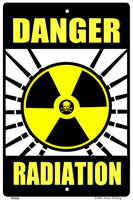 WS056 - Metal Signs, Warning Signs - Danger Radiation