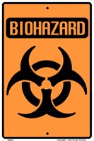WS065 - Metal Signs, Warning Signs - Biohazard Warning