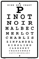 WS071 - Metal Signs, Warning Signs - Wine Eye Chart
