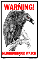 WS076 - Metal Signs, Warning Signs - Vulture Watch