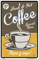 WS086 - Metal Signs, Warning Signs - Vintage Fresh Coffee