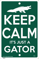 WS097 - Metal Signs, Warning Signs - Keep Calm Gator