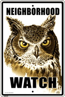 WS107 - Metal Signs, Warning Signs - Owl Watch