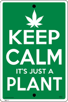 WS111 - Metal Signs, Warning Signs - Keep Calm Pot Plant