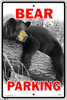 WS115 - Metal Signs, Warning Signs - Bear Parking