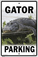 WS118 - Metal Signs, Warning Signs - Gator Parking