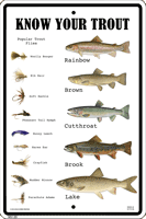 WS120 - Metal Signs, Warning Signs - Know Your Trout