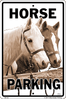 WS126 - Metal Signs, Warning Signs - Horse Parking