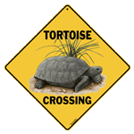 X285 - Metal Signs, Crosswalks - Tortoise Crossing