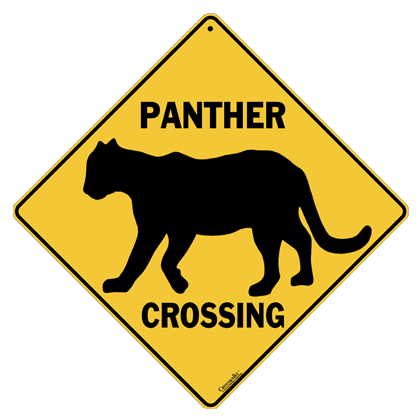 Panther Silhouette Crossing