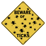 X417 - Metal Signs, Crosswalks - Beware of Ticks